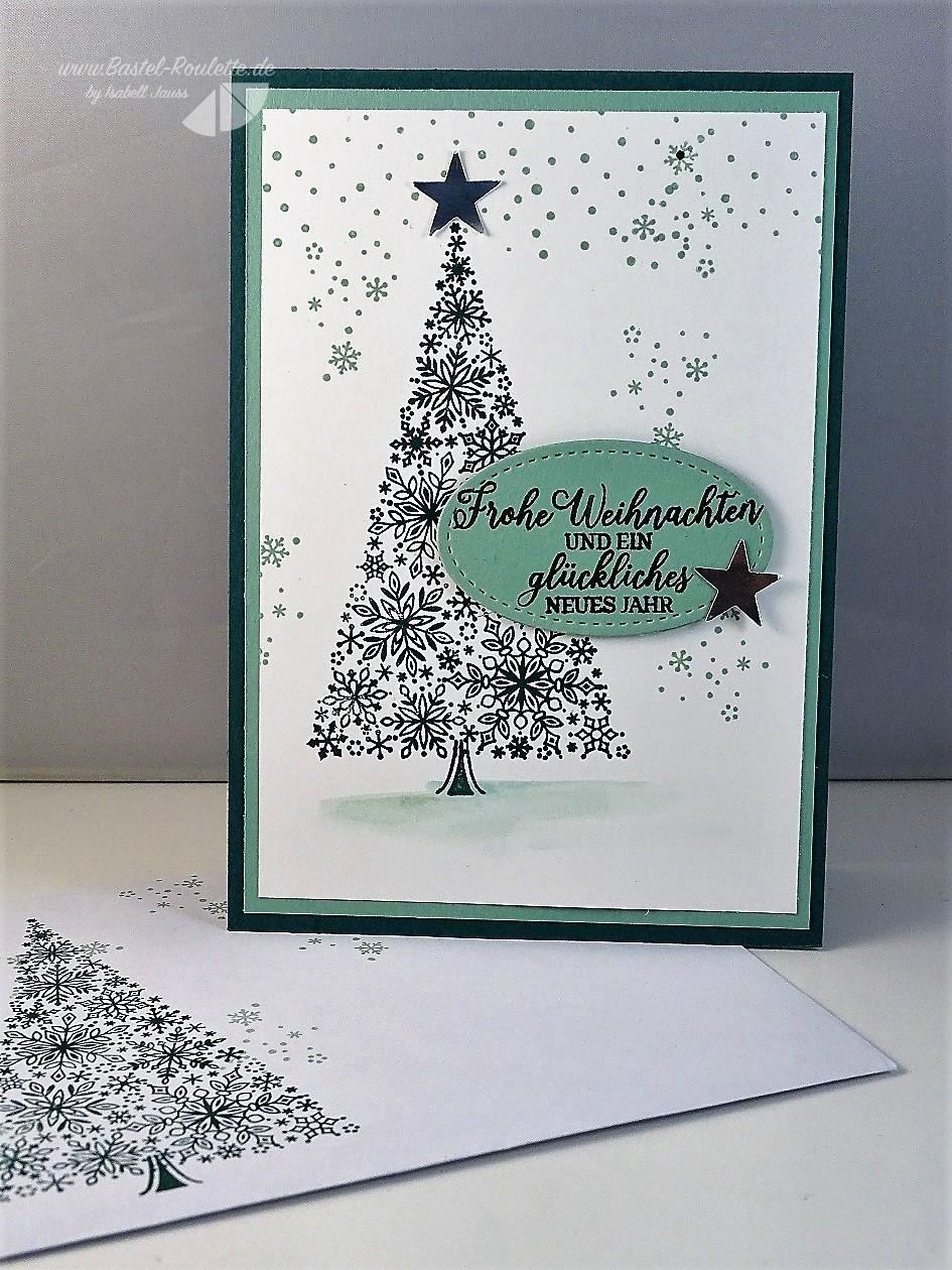 Gebastelte Weihnachtskarten.Isabell Jauss Bastel Roulette Seite 17